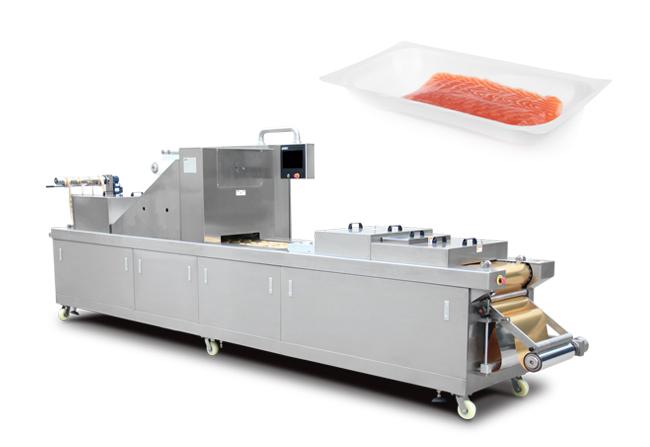 三文鱼全自动真空贴体包装机