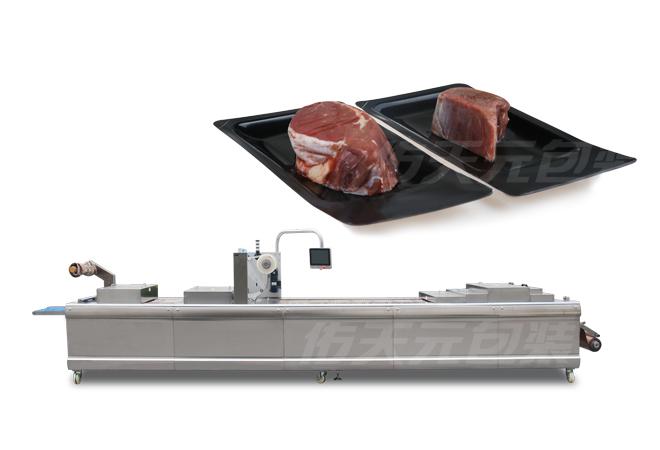 厚牛排全自动热成型贴体包装机