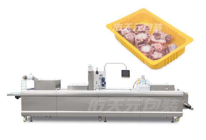 冷鲜肉全自动热成型气调包装机