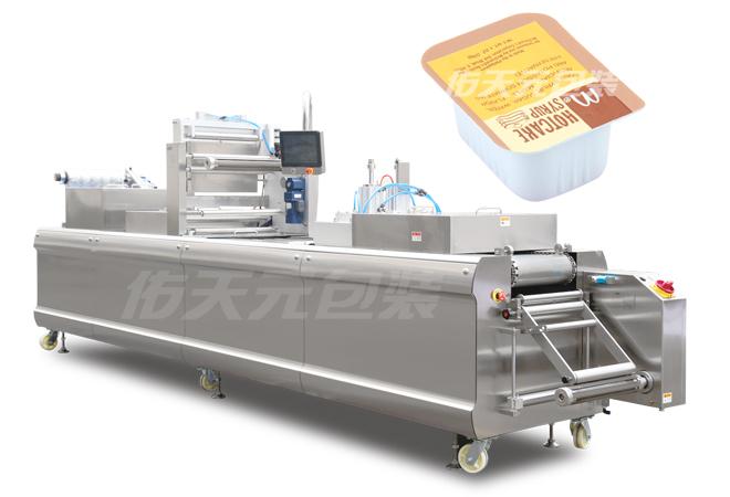 番茄酱热成型拉伸膜包装机