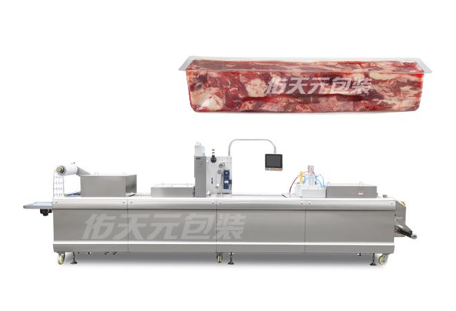 肉砖全自动热成型拉伸膜包装机
